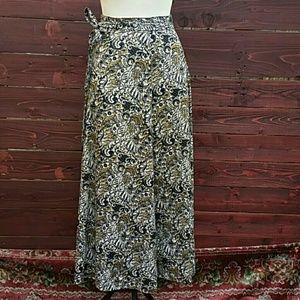70's Vintage High Waisted Maxi Skirt